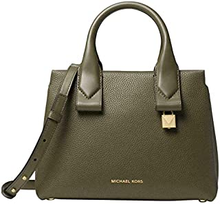b345ee39c58d MICHAEL Michael Kors Rollins Small Pebbled Leather Satchel in Olive