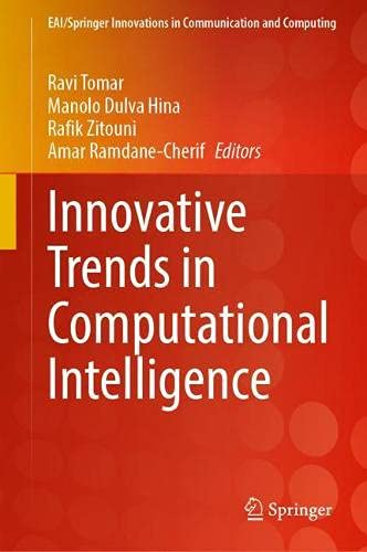 Innovative Trends in Computational Intelligence (EAI/Springer Innovations in Communication and Computing)