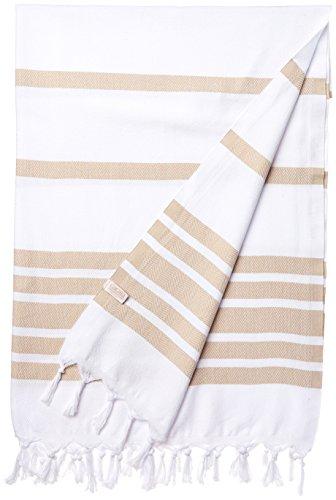 Cacala Pestemal Turkish Towels 37x70 100% Cotton Beige