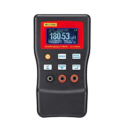 Misuratore Di Capacità E Induttanza, Tester Condensatore Esr Meter Misuratore Di Induttanza Di Portata Automatica Ad Alta Precisione Da 500 Khz (1Pf-100Mf)