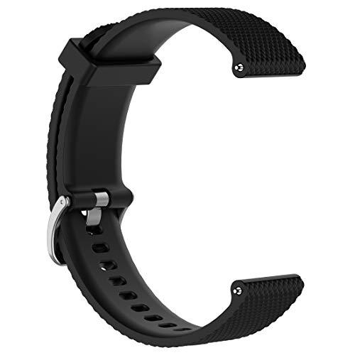 LOKEKE Bracelet de rechange en silicone pour Fossil Gen 3 Q Venture 18 mm pour Fossil Gen 3 Q Venture/Fossil Gen 4 Q Venture HR/Nokia Withings Steel HR (36 mm)