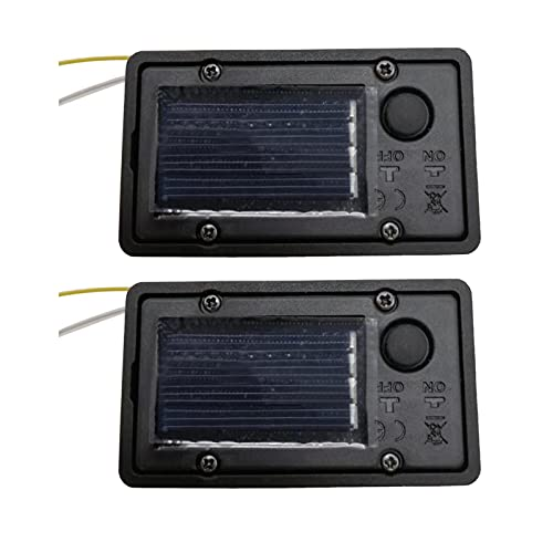 DELITLS Batterie-Box, 2 Stück/Packung, Solar-Laterne, Ersatz-Lampen, für den Außenbereich, hängende Laternen, LED-Zubehör