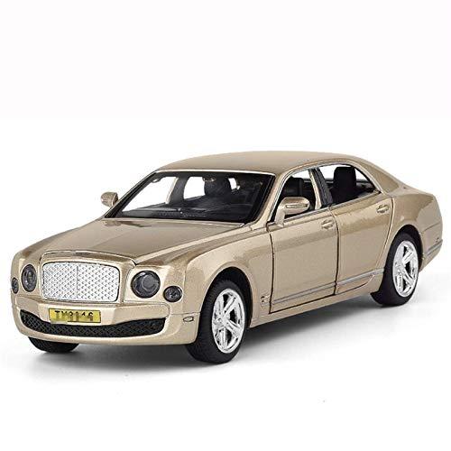 hjj Outdoorking Model Model 1:32 Alloy Diecast Toy Coche Modelos para Continental GT Coche Metal Tirante Vehículos con Juguetes de Sonido Ligero para niños para niños Regalo (Color: Oro) jianyou