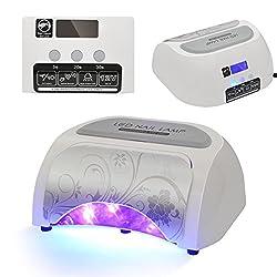 Besmall 48W LED Lichthärtungsgerät UV Nagellampe Timer Kontrol Nagel-Trockner Nägel Röhre mit Timer Lichthärtegerät Nagelstudio