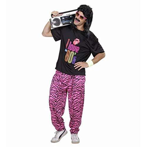 Widmann 98855 - Kostüm 80er Fashion Junge, T-Shirt und weite Hose, angenehmer Tragekomfort, Assi, Retro Style, Bad Taste Party, 80ies, Karneval, Mottoparty