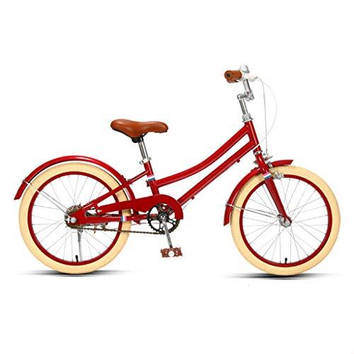 ANLW Bike City Bike Einstellbare Sitzhöhe Damen-Fahrrad, 18/20-Zoll-Räder, Womens Bike Cruiser Bike Gummireifen Geeignet Für Erwachsene Und Jugendliche,Rot,18in
