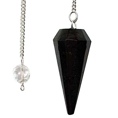 Harmonize Negro Turmalina Piedra facetada Cono Péndulo curativo de Piedra de la Piedra Preciosa Espiritual