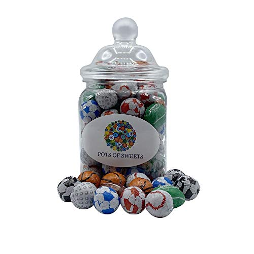 300 gram Jar van individueel verpakte chocolade Sports Balls