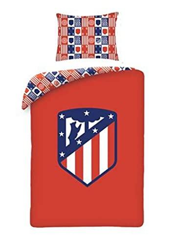 Funda nórdica 100% algodón Atlético de Madrid Escudo Centrado. (Cama 90)