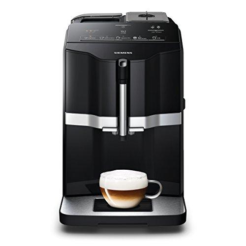 Siemens EQ.3 s100 Independiente Máquina espresso 1,4 L Totalmente automática - Cafetera (Independiente, Máquina espresso, 1,4 L, Molinillo integrado, 1300 W, Negro)