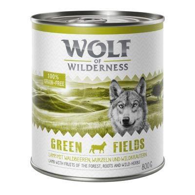 GroßhandelPL Wolf of Wilderness Adult Hunde-Nassfutter Green Fields - Lamm 48er Pack (48 x 800 g)