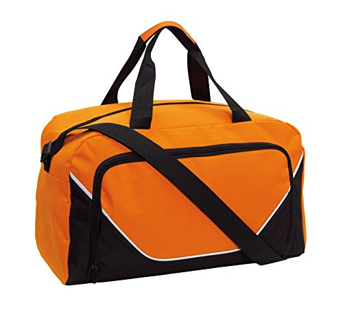 Preiswert&Gut Sporttasche 48x22x28cm Fitnesstasche 410Gr Umhängetasche (Orange)