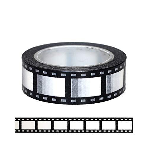 1 unidad de 15 mm de película negativa para cámara de fotos de scrapbooking DIY decorativo enmascaramiento japonés Washi cinta de papel 10 m, K1