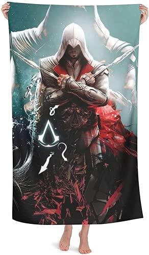 NFBZ Assassin's Creed - Toalla de playa, piscina, impresión 3D, secado rápido, ultrasuave (F09,75 x 150 cm) 🔥