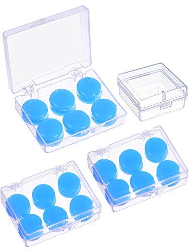 9 Paar Weiche Schutz Ohrstöpsel Silikon Kitt Ohrstöpsel Formbare Ohrstöpsel Set zum Schlafen, Schwimmen (blau)