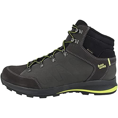 Hanwag Zapatillas de exterior Torsby GTX para hombre, Asphalt Amarillo