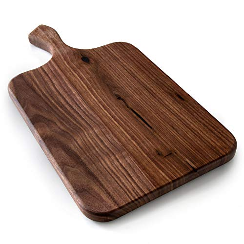 Brazos Home Organic Wood Cutting Board for Kitchen, Butcher Block, Charcuterie Platter made of Seasoned Dark Walnut for Serving or Chopping Fruit, Vegetables or Meat, 16 x 8, Large, Oiled