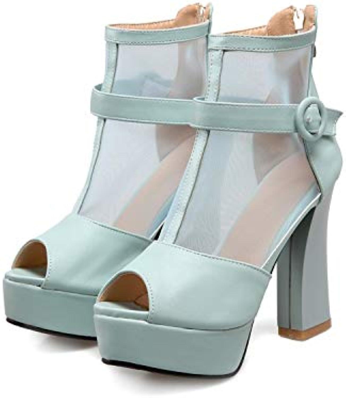MENGLTX High Heels Sandalen Damenschuhe Sandalen Damen Big Plus Größe 34-45 Schuhe Damen Sandalen Sommer Style Wedge T867