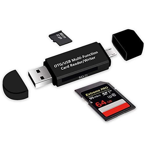 i-Tronixs - Adattatore Micro USB OTG e Lettore di schede di Memoria Portatile USB 2.0 per Oukitel U7 Plus, Supporta SD/Micro SD/TF/SDHC/SDXC/MS, SDXC, SDHC, SDHC, SD, MMC, RS-MMC