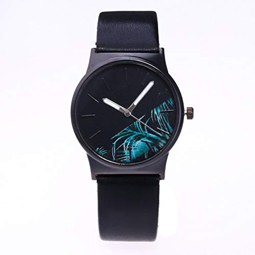 xiaoxioaguo Reloj de cuarzo para hombre con esfera impresa, moderno, deportivo, informal, para hombre.