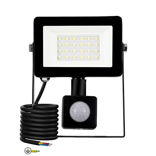 Sensor Light (20W W)LED Strahler mit Bewegungsmelder 2000 LM superhell LED Fluter IP66 wasserdicht Außenstrahler Flutlichtstrahler Scheinwerfer Licht, ideale Wandleuchte für Garten, Garage, Sportplatz