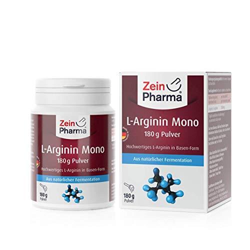 L-Arginina in polvere die ZeinPharma • 180g (fornitura per 1 mese) • per il trattamento dietetico della disfunzione vascolare • Fatto in Germania