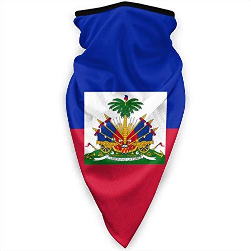 Mathillda Haïtiaanse vlag gezichtsmasker hals gamassen bandana sjaal bivakmuts multifunctionele hoofddeksel voor outdoor sport zwart