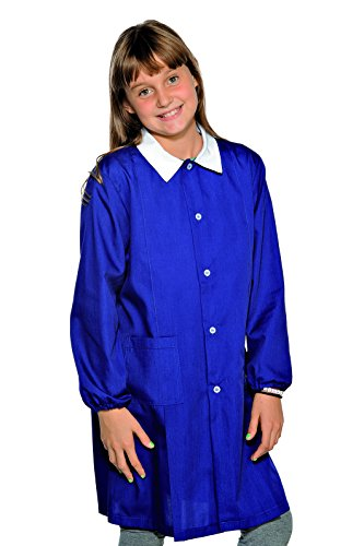 Grembiule Pollicino Isacco per scuola elementare 6-11 anni (11 anni, Blu)