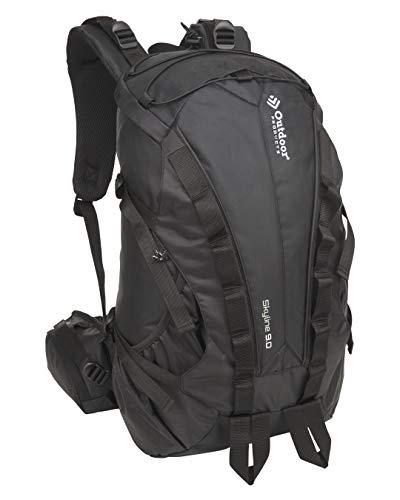 Outdoor Products Skyline Internal Frame Backpack, 28.9-Liter Storage (Black)