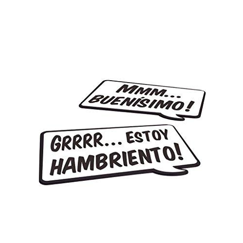Balvi Individual Speak Up! Set 2 manteles Individuales con Frase Idioma> español Madera DM/plástico PP 40x29x0,4 cm