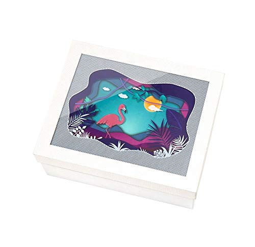 Driedimensionaal schilderij mooie doos geschenkdoos, creatieve fotolijst geschenkdoos, geschenkdoos leeg, kerstgeschenkdoos 16.7 × 16.7 × 7.8cm A2