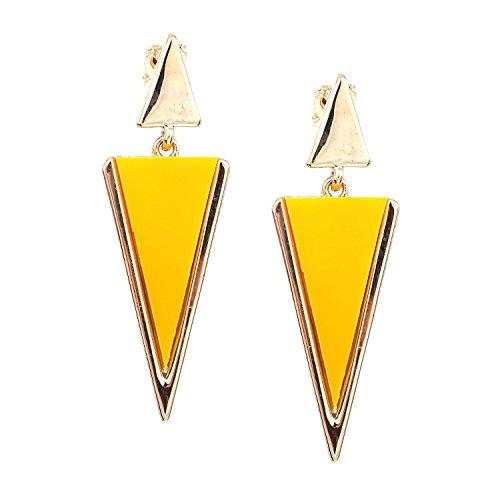 Idin Jewellery - Orecchini a clip in oro giallo con pendenti in oro