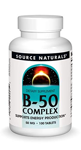 Source Naturals B-50 Complex 50 mg B-Vitamins For Energy Production Support - 100 Tablets