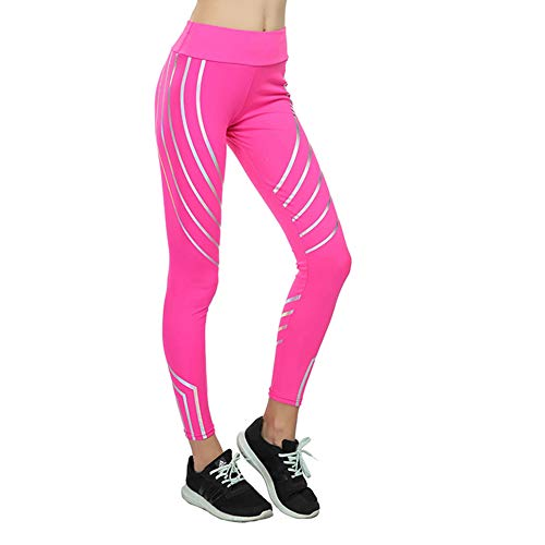 Monbedos Damen Yoga-Hose, Hüft-Hose, hohe Taille, Power Stretch, Fitness, Laufen, Workout, Strumpfhose, Größe L