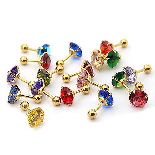 ANAZOZ Unisex ring ängel av kärlek zirkonia förlovningsringar rostfritt stål ring för par e rostfritt stål, colore: Guld 8 mm 5 par-ocen blå, cod. ANAZOZC81BL0344