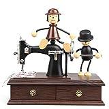 オルゴール オルゴール レトロ 音楽ボックス DIY 装飾 結婚式 誕生日 プレゼント ミュージックボックス LCLJP (Color : 19 X 18 X 8.5 cm, Size : フリー)