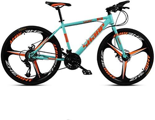 HCMNME Bicicleta Duradera 26 Pulgadas de Bicicletas de montaña, Doble Freno de Disco/Acero de Alto Carbono Bicicletas Frame, Playa de Motos de Nieve de Bicicletas, Ruedas de aleación de ALU