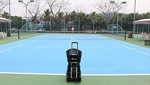 SKYEGLE Tennisball-Maschine, tragbar, automatisch, Ballwerfer, Tennis-Übungsgerät, Zwischentennistrainer mit Lithium-Batterie und Fernbedienung, Ausrüstung für Solo-Training Sport T1600