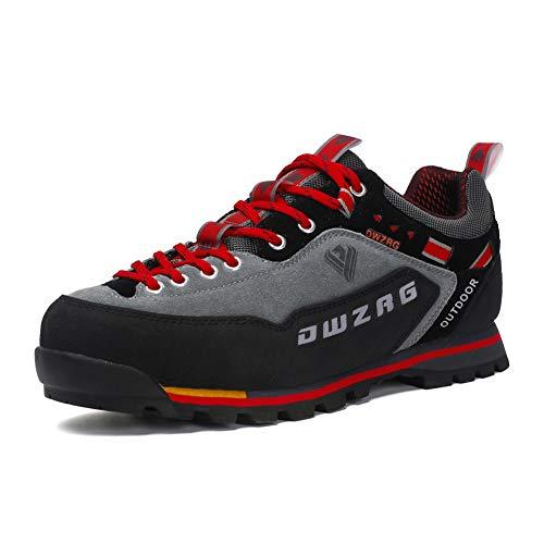 Chaussures de Randonnée Hommes Respirante Outdoor Sneaker Trekking Chaussures de sécurité Rouge 44 EU