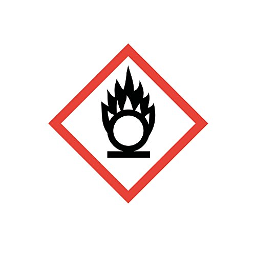 easydruck24de Gefahrstoffaufkleber GHS03:Brandfördernd, hin_149, 10x10cm, Gefahrstoffsymbol, GHS-Kennzeichnung, Achtung, Warnung, Vorsicht, Hinweis