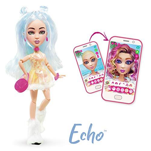 Bandai YL30261 SnapStar – aankleedpop 23 cm – Echo – personaliseerbare pop met pruik en gratis app om je eigen stijl te creëren en te delen