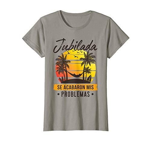 Mujer Regalo Original Jubilación Mujer Jubilada Playa Camiseta