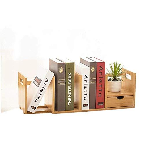 N/Z Home Equipment Bookshelves Book Shelf Storage Rack Table Desktop Storage Rack Organizer Desktop Display Shelf with 2 Drawers Adjustable Bookshelf (Color : Natural Size : Single Drawer)