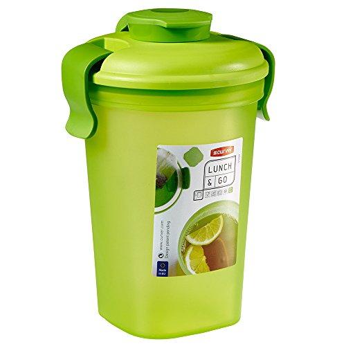 CURVER 00740-C55-00 Bouteille Lunch & Go Taille, Plastique, Vert Translucide/Vert Clair, 10,7 x 12 x 17 cm