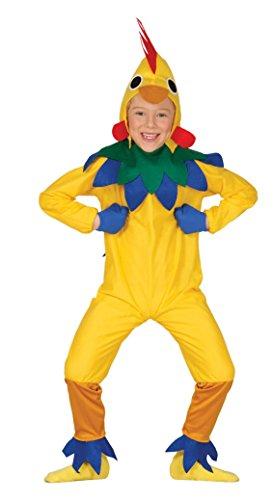 Guirca - Disfraz de pollito, talla 5-6 aos, color amarillo (83289)