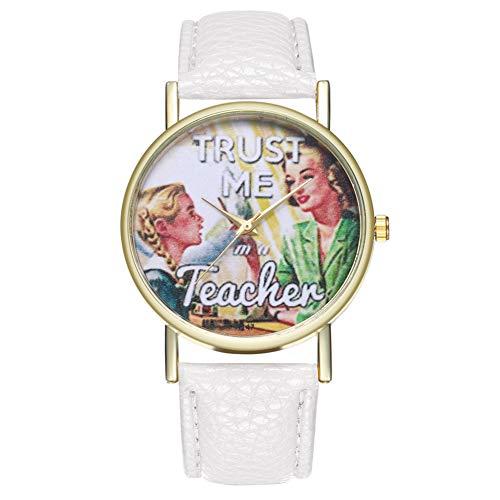 Shubiao Moda Casual Relojes De Cuarzo Estilo Retro Hombres Mujeres Relojes Correa De Cuero Dial Redondo Impreso Relojes