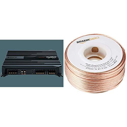 Sony XMN1004 Kfz-Verstärker (1000 Watt) & AmazonBasics Lautsprecherkabel 1,3 mm² / 16 Gauge, 30,48 m (100 Fuß)