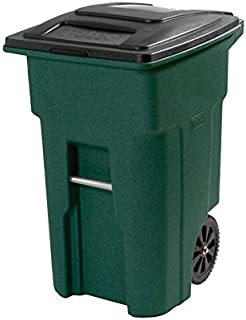 Toter Wheeled Trash Can 48 Gal Polyethylene Granite, Green, Stone