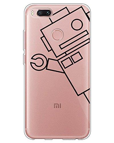 AIsoar Coque XiaoMi Mi A2 Lite/Redmi 6 Pro,Ultra Flex Series Housse de Protection Souple avec Protection Flexible et Crystal TPU Premium [Très Légère/Ajustement Parfait/Mince] (Robot)