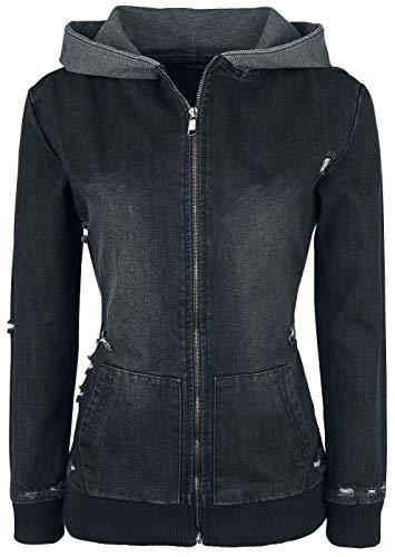 Forplay Destroyed Denim Jacket Frauen Jeansjacke schwarz XXL